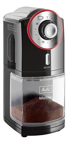 Melitta Kaffeemühle Molino, elektrisch, Scheibenmahlwerk, schwarz 101901 -